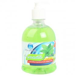 Жидкое мыло туалетное, цветочная, антибактериальный эффект, флакон с дозатором, 500мл Fresh mint Свежая мята Русалочка 436671