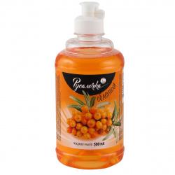 Жидкое мыло туалетное, фруктовая, антибактериальный эффект, флакон с дозатором флип-топ, 500мл Облепиха Русалочка 439719