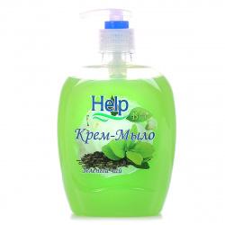 Жидкое мыло HELP 500мл Зеленый чай с курком 5-0351