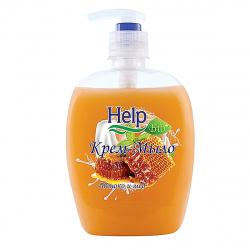 Жидкое мыло HELP 500мл Молоко мед с курком 5-0355