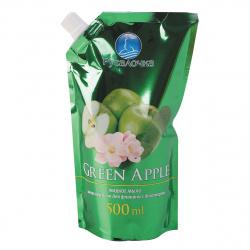 Жидкое мыло туалетное, фруктовая, антибактериальный эффект, дой-пак, 500мл Зеленое яблоко Русалочка 432819