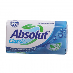 Мыло туалетное антибактериальное Абсолют 90гр ассорти