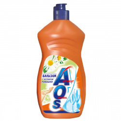 Средство для мытья посуды AOS бальзам, 450мл Ромашка