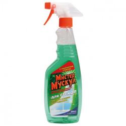 Моющее средство для окон с курком Мистер Мускул 500мл Зеленый/Утренняя роса с наш спирт 689243
