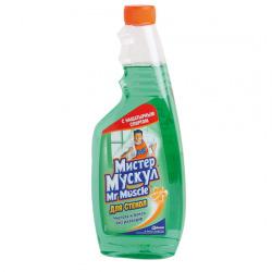 Моющее средство для окон Мистер Мускул Запасной блок 500мл Зеленый 689246