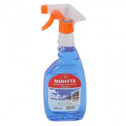 Моющее средство Минута  для стекол с курком 500мл Свежий озон 1-0112