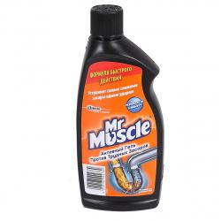 Чистящее средство для труб Мистер Мускул  500мл Гель