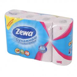 Полотенца бумажные Zewa 2-слойные 4 рулона ассорти