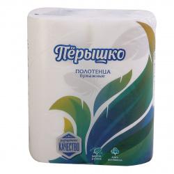 Полотенца бумажные Перышко 2-слойные  2 рулона 1018 белые