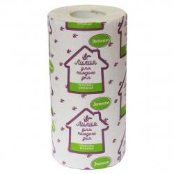 Полотенца бумажные Лилия ЭКОНОМ 1-слойный 1 рулон 1059