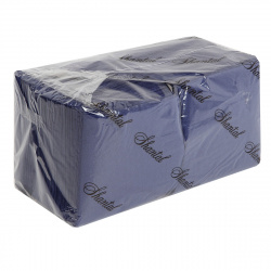 Салфетки 24*24 1-слойные 400листов синие