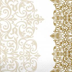 Салфетки Перышко Prestige 33*33 3-слойные 20шт Версаль