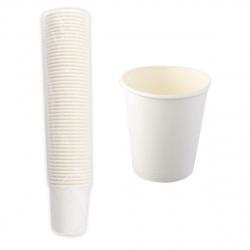 Стакан 180гр для горячих напитков белый бумажный А 135490