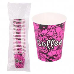 Стакан 250гр для горячих напитков  Бест Кофе А бумажный 135285