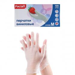Перчатки  виниловые PACLAN 100шт.М хозяйственные 50пар 407171