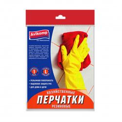Перчатки хозяйственные резиновые S Avikomp.желтые  2650