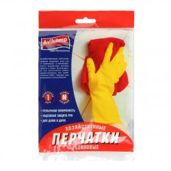 Перчатки хозяйственные резиновые M Avikomp.желтые  2643