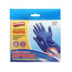 Перчатки латекс М (синие) Avikomp 4548