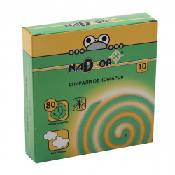 Спирали от комаров, 10 шт, Nadzor