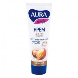 Крем для рук AURA BEAUTY  Регенерирующий с маслом ши  , 75мл