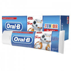 Зубная паста ORAL_B Junior для детей Нежная мята Star Wars 1шт, блистер Procter & Gamble