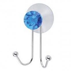 Крючок для ванной двойной Бриллиант металл, на присоске Рыжий Кот 311454