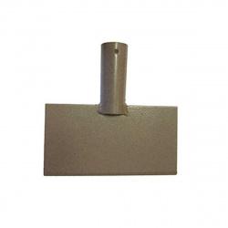 Скребок для льда металлический прямоугольный с тулейкой 200х100мм d 30мм
