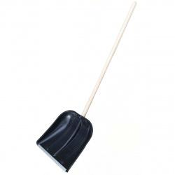 Лопата для снега пластиковая 420*410мм с черенком Памир