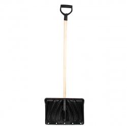 Лопата снеговая усиленная (К) пластиковая 440х315мм с черенком и ручкой