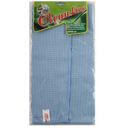 Салфетка Clean Line 35*40 микрофибра двусторонняя для стекол 766