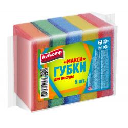Губки для посуды Avikomp 85*60*25 5шт Макси Eco Technology 40561