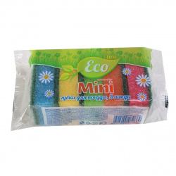 Губки для посуды ECO LINE 80*50*25 5шт Mini 079669