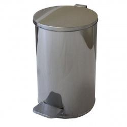 Урна педальная круглая 7л (хром) ф200мм, Н290мм