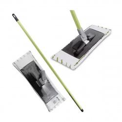 Швабра ЕВРО МОП АЗУР для пола, пластик+микрофибра, 40*15см, 127см, швабра+насадка, телескопическая ручка York 081160