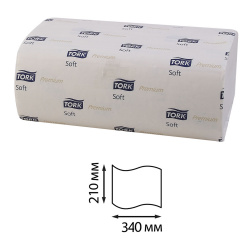 ТОРК Премиум полотенца ZZ 2 слойные Interfold (21см*106л ) 100288-18