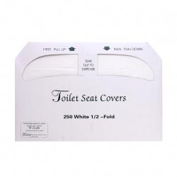 Индивидуальные бумажные покрытия на унитаз (250шт) ТР-1/2-250