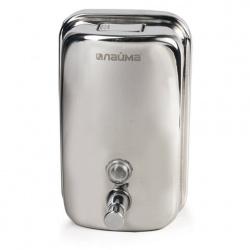 Диспенсер  для жидкого мыла 1л Лайма Economy,нерж сталь,зеркальный 601796