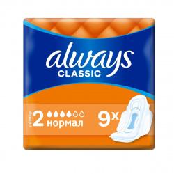 ALWAYS Classic Женские гигиенические прокладки Normal Single 9шт 83735037