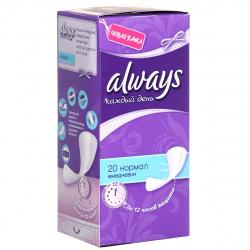 ALWAYS Ежедневные гигиенические прокладки ароматизированные Незаметная защита Нормал Duo 20шт 83738171