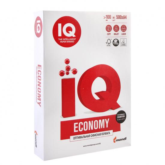 Бумага IQ ECONOMY А4, 80г/кв.м, 500л, класс бумаги С, белизна CIE 150% 00-00000150