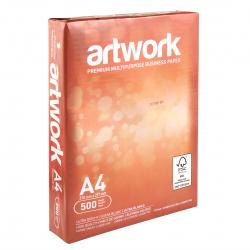 Бумага ARTWORK А4, 75г/кв.м., 500л, класс бумаги А+, белизна CIE 167%