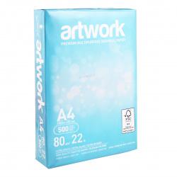 Бумага ARTWORK А4, 80г/кв.м., 500л, класс бумаги А+, белизна CIE 167%