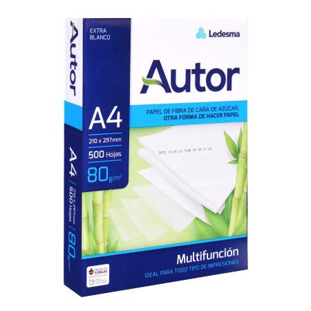 Бумага AUTOR А4, 80г/кв.м., 500л, класс бумаги B, белизна CIE 160%