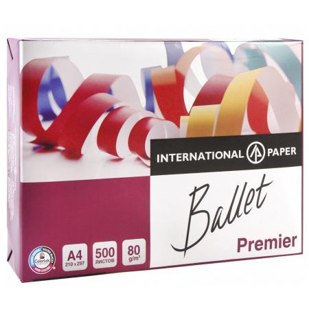 Бумага Ballet Premier А4, 80г/кв.м., 500л, класс бумаги А, белизна CIE 161%