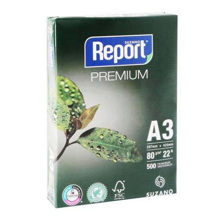 Бумага REPORT PREMIUM А3, 80г/кв.м., 500л, класс бумаги B+, белизна CIE 160%