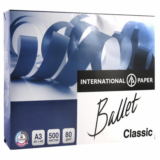Бумага Ballet Classic А3, 80г/кв.м., 500л, класс бумаги B, белизна CIE 153%