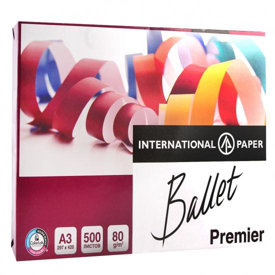 Бумага Ballet Premier А3, 80г/кв.м., 500л, класс бумаги А, белизна CIE 161%