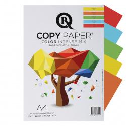 Бумага цветная А4, 80г/кв.м., 50л, 5 цветов, интенсив Rcopy