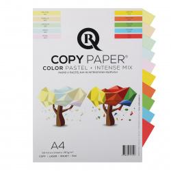 Бумага цветная А4, 80г/кв.м., 50л, 10 цветов, интенсив, пастель Rcopy