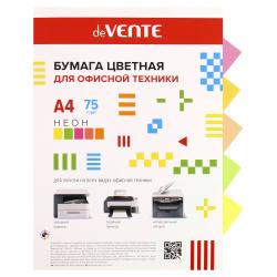 Бумага цветная А4 80г/м2 100л 5 цветов неон deVENTE 2072949